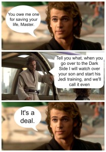 Also, did I mention I find all of the Star Wars films funny? My edit/captions