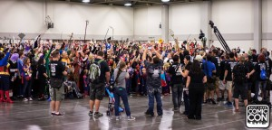 Inside the south wing of the Salt Palace during the World Record Attempt Salt Lake Comic Con via Facebook