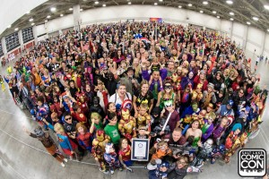 1,784 people in superhero costume with their certificate Salt Lake Comic Con via Facebook
