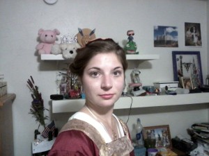 Me in one of my Medieval dresses. One of the best parts of coming to college was finding people who liked the same things I did and followed their passions. (my photo)