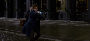 Warner Bros. Screenshot from the teaser. Look who's behind Newt. It's the Muggle!