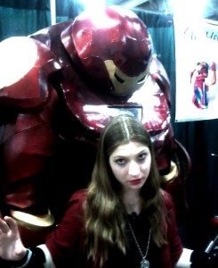 day 1- scarlet witch with hulkbuster