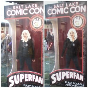 Livewire Action Figure. Based on the hit TV show Supergirl. Available Exclusively at Salt Lake Comic Con