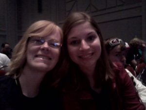 September 2014--Chelsea and I at the Stan Lee panel