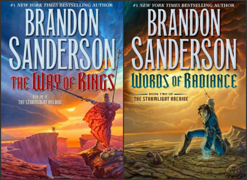 Bookcovers for Brandon Sanderson Books