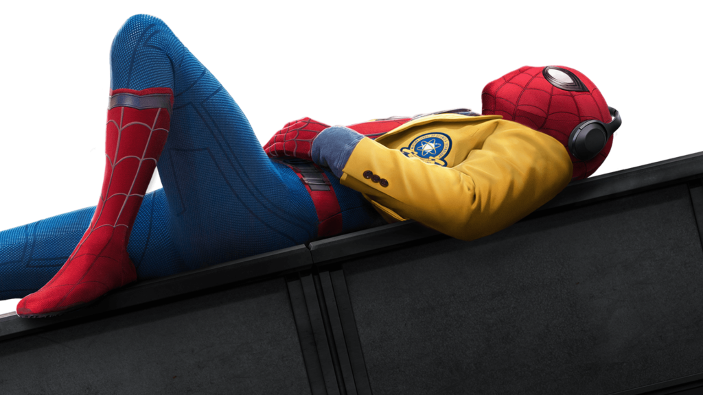 Spider-Man taking it easy